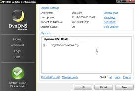 Screenshot of DynDNS Updater