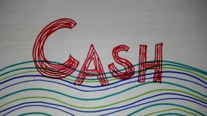 Cash drawn in markers