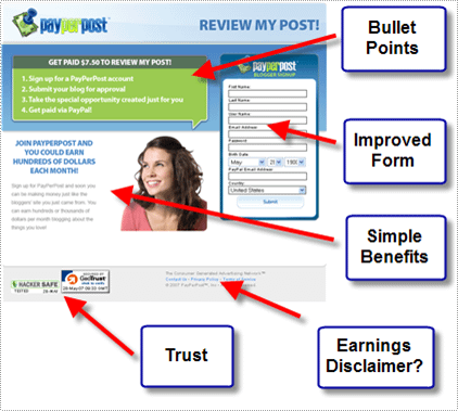 Graphic of a landing page