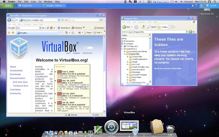 Screenshot of Virtualbox